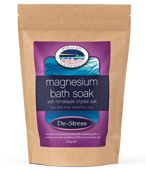 De-Stress Magnesium Bath Soak With Himalayan Crystal Salt