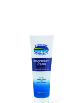 Magnesium Cream-120g Tube on White